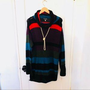 {DVF} Mock Neck Sweater